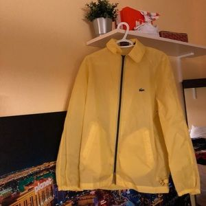 Yellow IZOD Lacoste light windbreaker